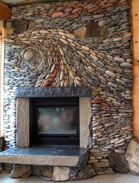 25 Stunning Fireplace Ideas To Steal Rocks For Fireplace