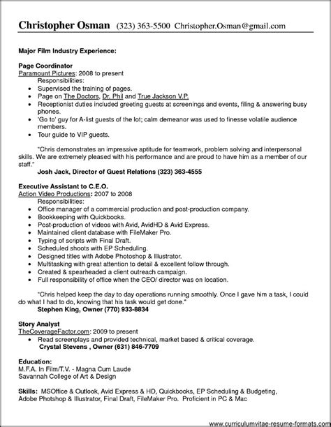 Resume Hotel Duty Manager by Duties Office Manager Resume Free Sles Exles
