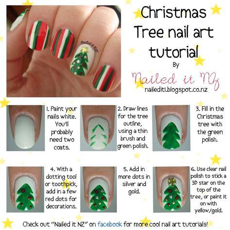xmas nail art tutorial nail art for short nails 4 christmas tree nails
