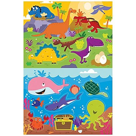 prince lionheart bathtub prince lionheart 174 2 pack dino ocean bath puzzle buybuy baby