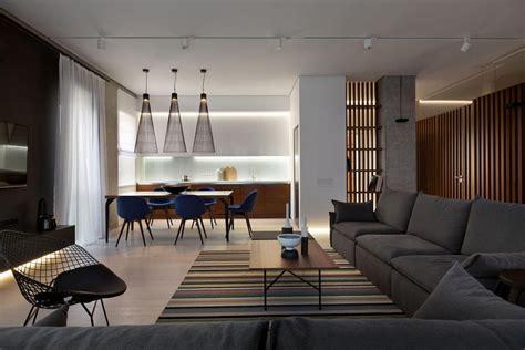 minimalist interior design style urban apartment wood and marble elegant and laconic minimalist style