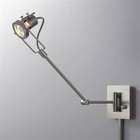 swings that plug into the wall single spotlight plug in steel swing arm wall l