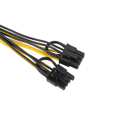 Pcie Power Splitter 8 Pin To Dual 6 2 Pin 25 Cm 2xpci e 6 pin to 2x 6 2 pin 6 pin 8 pin power splitter