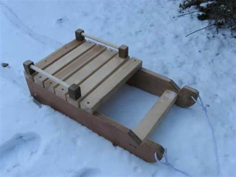 diy snow sled how to build wood gun cabinet snow sled plans