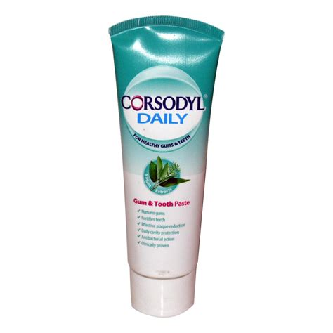 And Toothpaste corsodyl daily gum and toothpaste 75ml dental care personal care multipharmacy