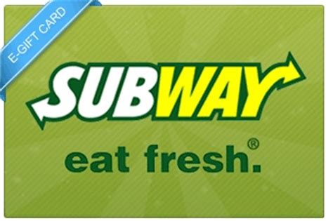 Subway E Gift Cards - 10 subway e gift card gift cards pinterest