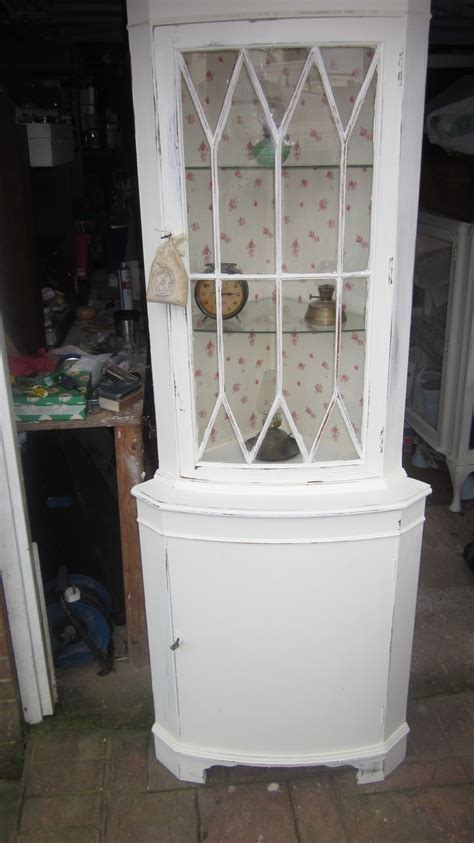 shabby chic corner cabinet corner display cabinet shabby chic pinterest