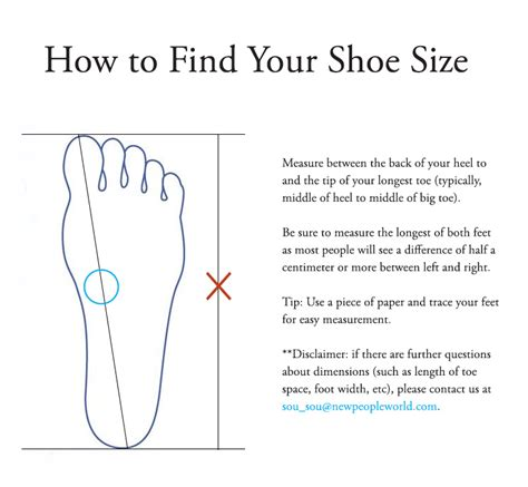 shoe size chart how to measure shoes size chart sou sou us online store