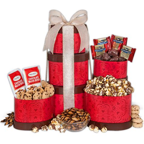 baskets for valentines day s day gift tower by gourmetgiftbaskets