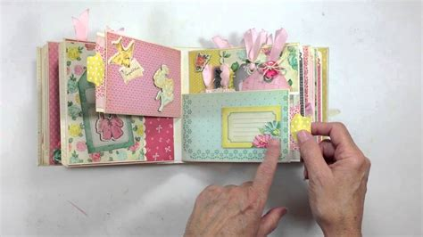scrapbook albums tutorial pocket page mini album tutorial series final review youtube