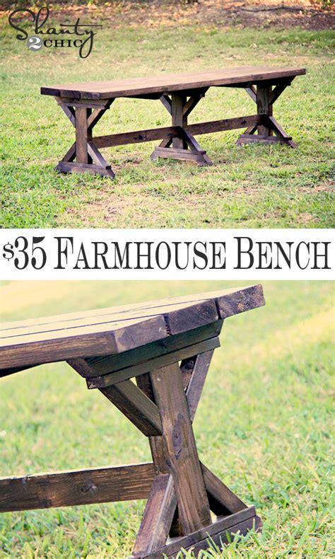 diy farmhouse bench diy bench farmhouse style shanty 2 chic