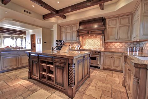 kitchen ideas distressed gray island hgtv house network