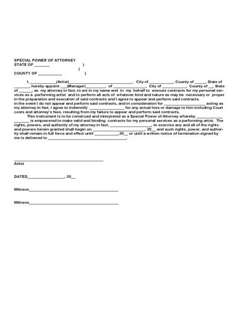 Artist Management Contract Template Free Download Free Artist Management Contract Template