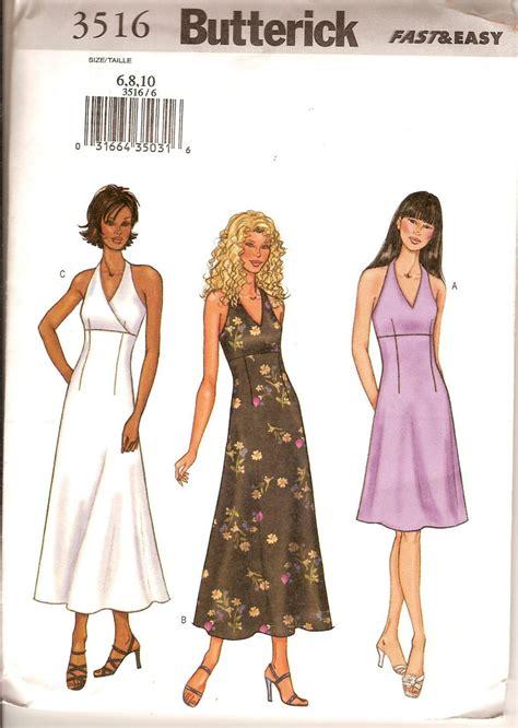pattern halter dress sewing pattern butterick 3516 misses halter dress uncut