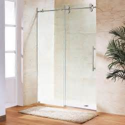 Home Depot Shower Doors Canada Vigo Clear And Stainless Steel Frameless Shower Door 72 Inch 3 8 Inch Glass The Home Depot Canada