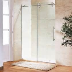 Glass Shower Doors Canada Vigo Clear And Stainless Steel Frameless Shower Door 72 Inch 3 8 Inch Glass The Home Depot Canada