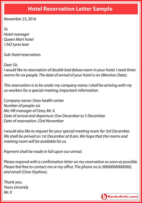 Guarantee Letter Hotel Reservation Sle application letter for booking 28 images hotel