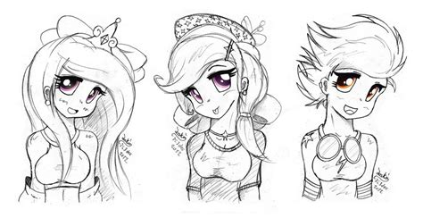 Mlp Anime Drawing Coloring Pages Mlp Fim Coloring Pages