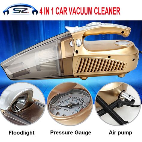 4 In 1 Car Vacuum Cleaner Portable High Power Tire Inflator Flashlight pneumatic vacuum cleaners reviews shopping pneumatic vacuum cleaners reviews on