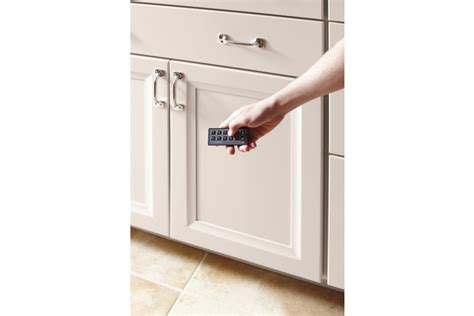 kitchen renovation idea remote cabinet lock