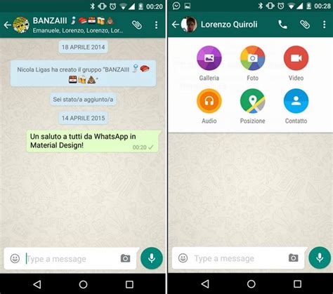 new update for android whatsapp gets material design in the update