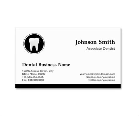 Template Business Card New Address by Dentist Dental Clinic Business Card Template 40 Free