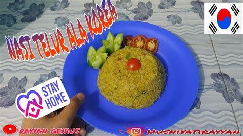 resep nasi telor ala korea makanan viral youtube