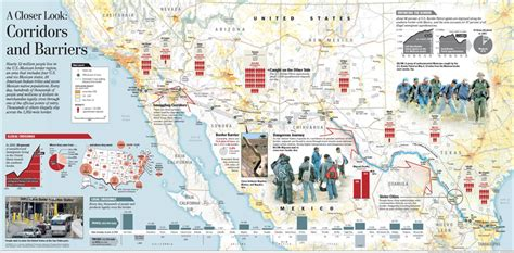 usa and mexico border map us mexican border crossing locations us mexico border