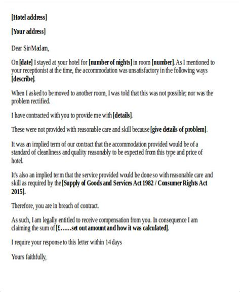 Complaint Letter Hotel responding to a complaint letter hotel docoments ojazlink