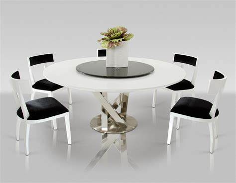 Dining Room Table Sets For Small Spaces by A Amp X Spiral Modern Round White Dining Table With Lazy Susan