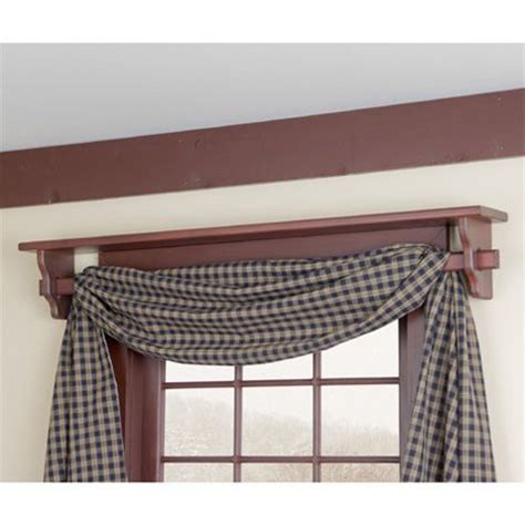 curtain rod shelf shelf above window doubles as a curtain rod colonial
