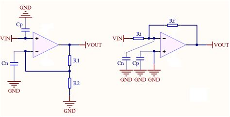 op capacitor across inputs op what is the effect of capacitors at op input frequency response electrical