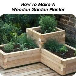 how to make wooden garden planters woodworking projects