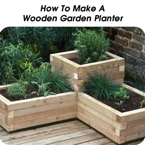 How To Make Wooden Garden Planters Woodworking Projects How To Make Planters