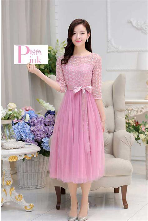 desain dress panjang wanita model baju korea dress korea terbaru beauty id holidays oo