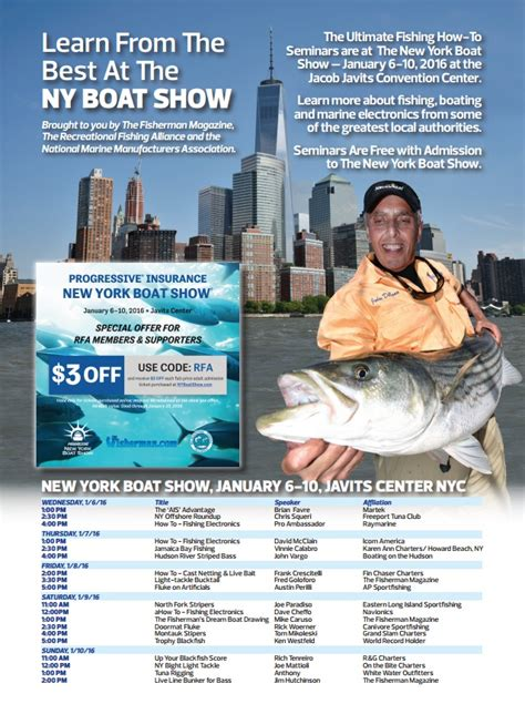 ny boat show admission 2016 new york boat show