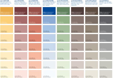 toom wandfarbe palette farbkarten