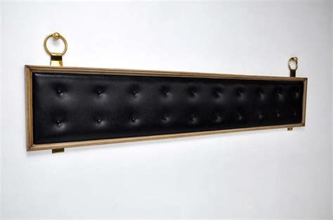 king brass headboard tufted king size headboard with brass rings at 1stdibs