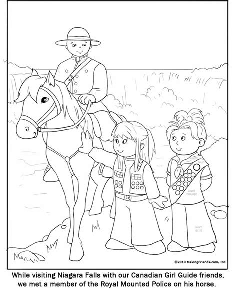 Canadian Girl Guide Coloring Page Makingfriendsmakingfriends Guide Coloring Pages