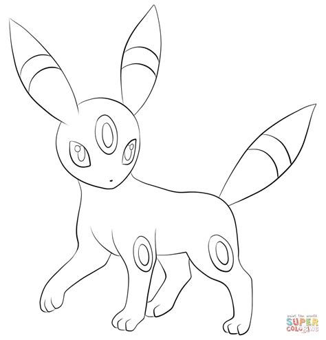 pokemon coloring pages umbreon umbreon coloring page free printable coloring pages