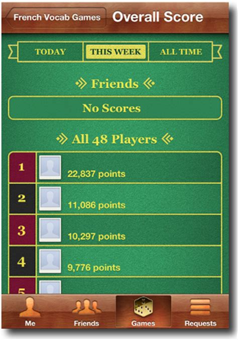 how to mod game center scores french linguistics development 22k high score on french