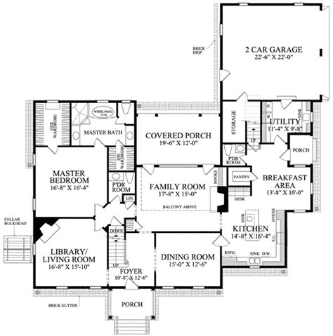 Center Hall Colonial Floor Plan by Center Hall Colonial 32510wp 1st Floor Master Suite