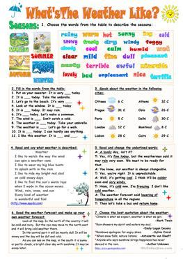 what is rainfall pattern in french 447 free esl weather worksheets