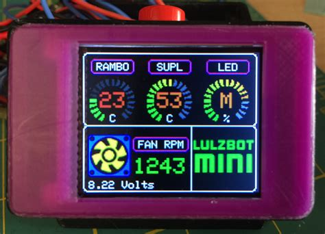 raspberry pi pc fan controller lulzbot mini arduino temp monitor fan led controller