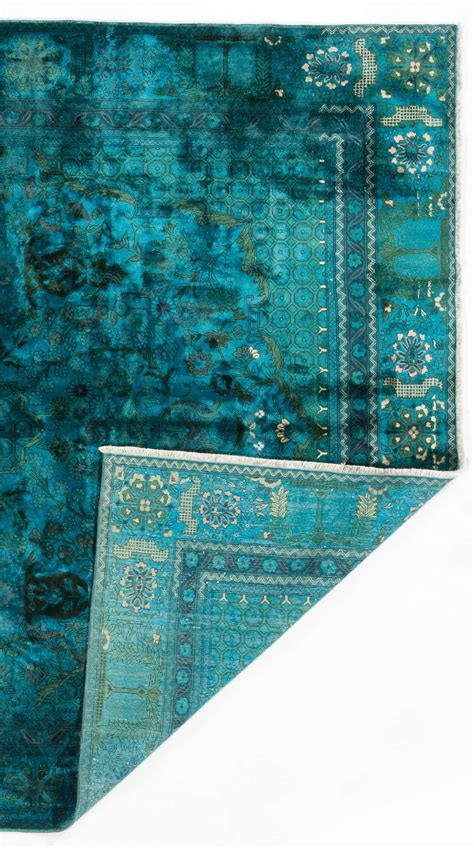 teal blue rugs silk and cotton indian rug in teal blue color for sale at 1stdibs