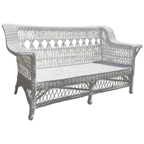wicker settee furniture antique paine furniture triple cross wicker settee the
