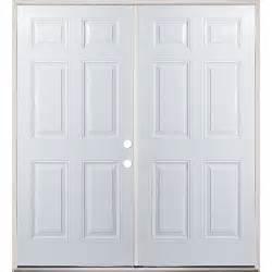 72 quot raised panel prehung exterior double door unit left