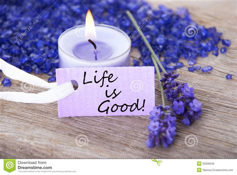 purple label with quote is and lavender