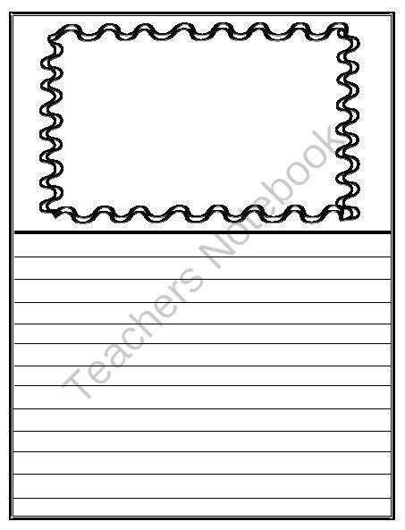 printable lined paper with room for picture writing paper with picture box from fun in room 4b on