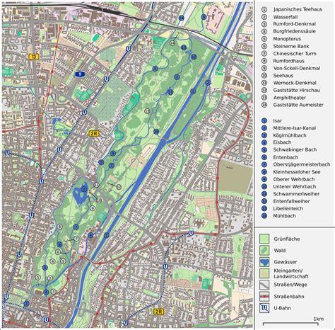 Englischer Garten Maps by File Karte Englischer Garten M 252 Nchen Png Wikimedia Commons